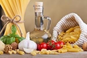 Parmesan und Pasta
