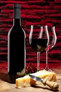 Parmesan und Rotwein