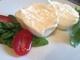 Burrata Käse aufgeschnitten