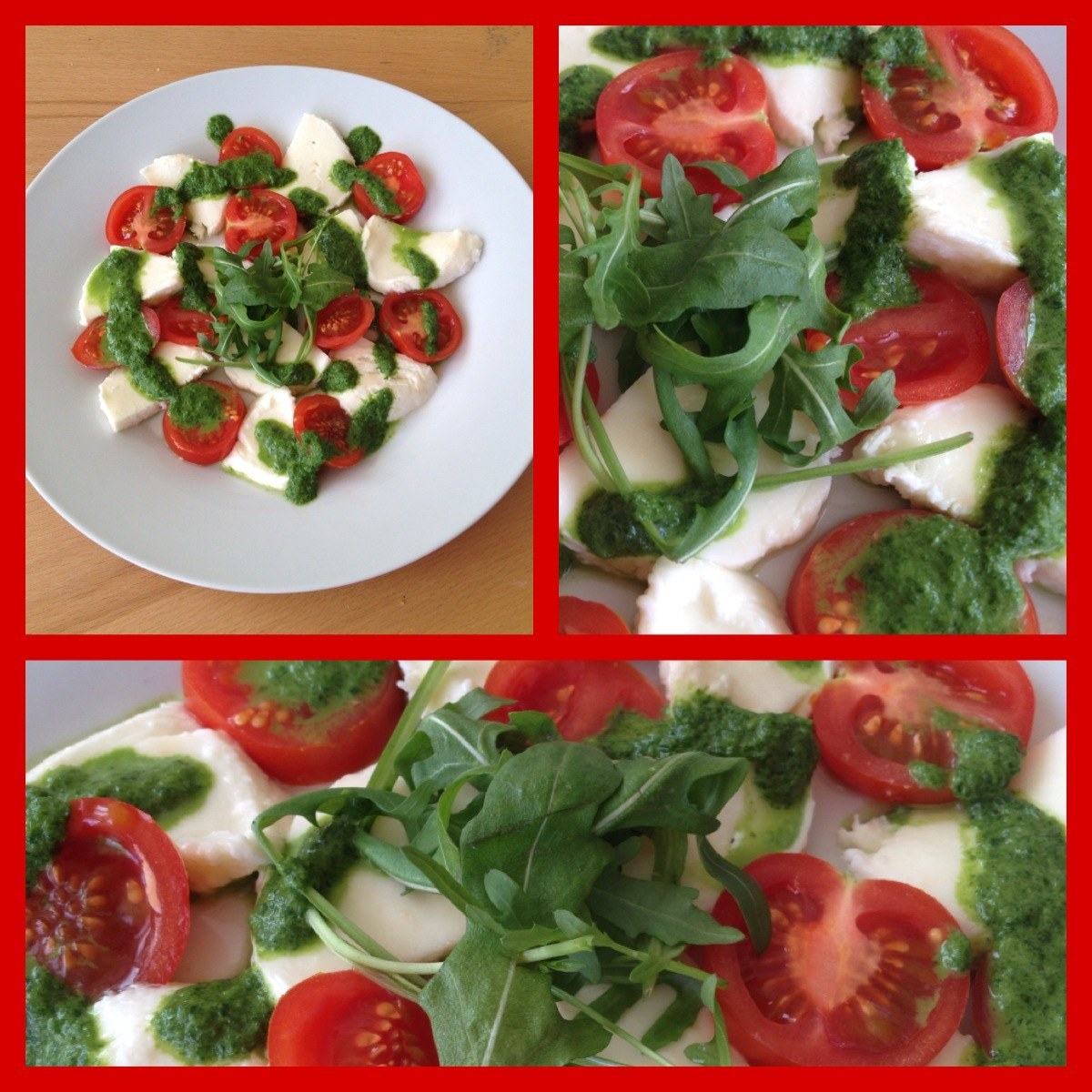 tomaten und mozzarella salat mit balsamico dressing. Black Bedroom Furniture Sets. Home Design Ideas