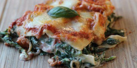 Vegetarische Lasagne mit Blattspinat und Ricotta