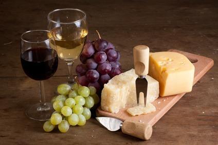 Parmesan und Wein
