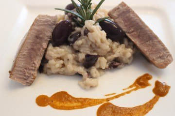 Oliven Risotto mit Thunfisch